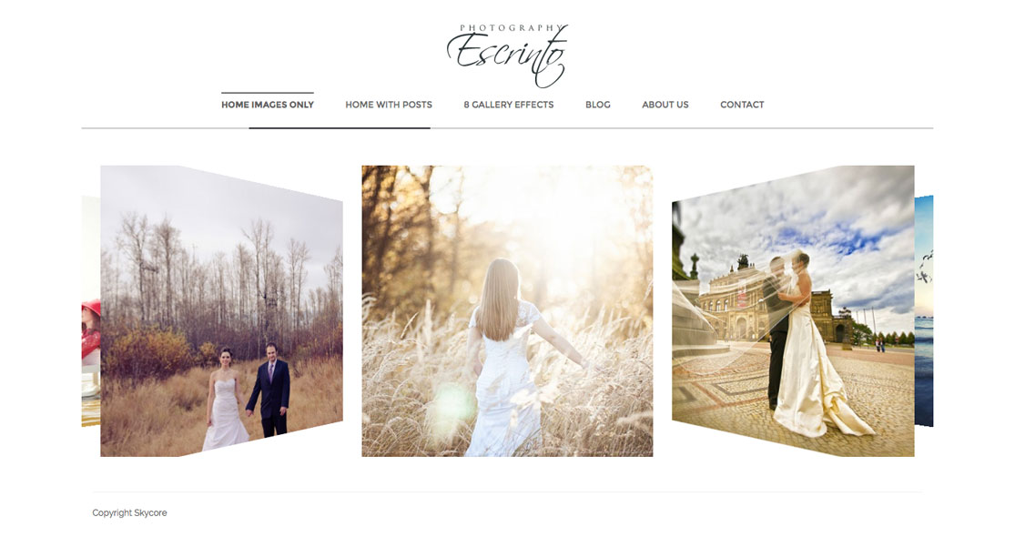 Escrinto Wordpress Theme Photography Portfolio Smashthemes