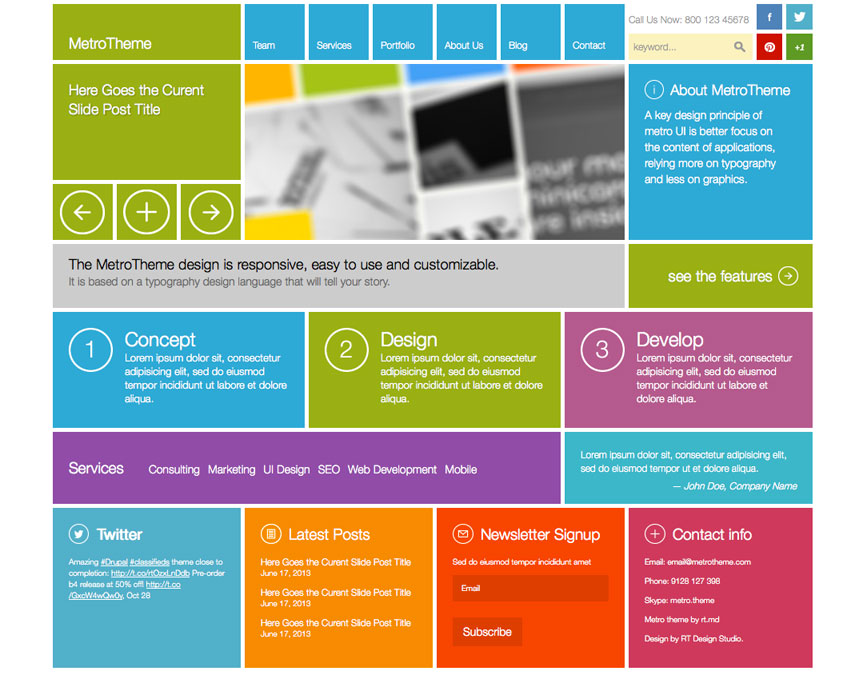 Metro WordPress Theme at ThemeSnap