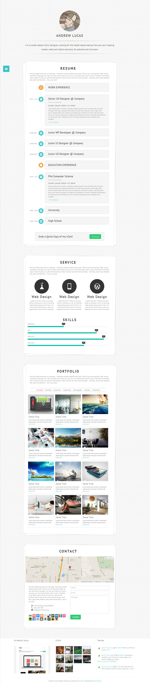 Lucas WordPress Resume Portfolio Theme