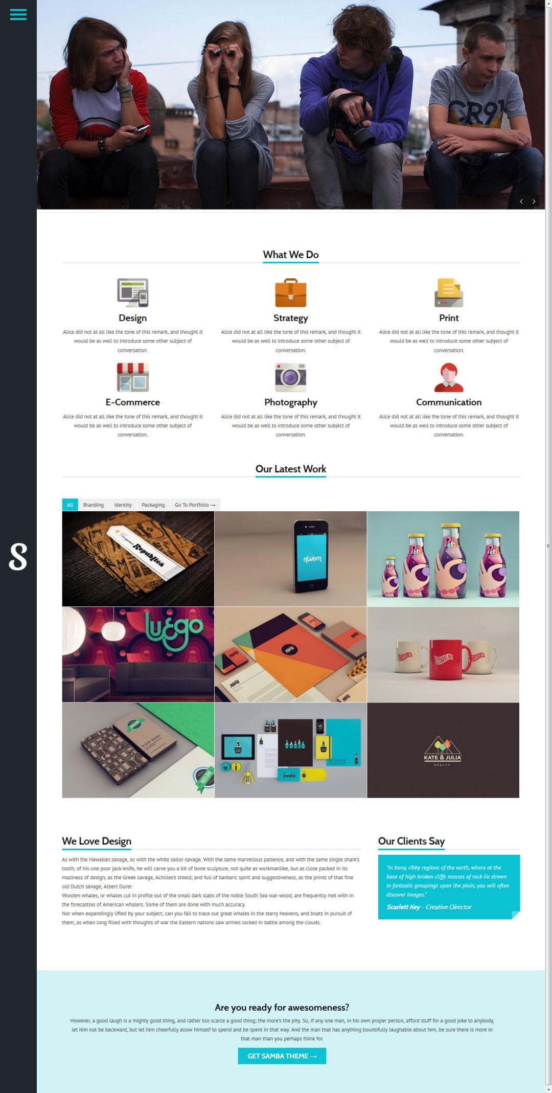 Samba WordPress Theme