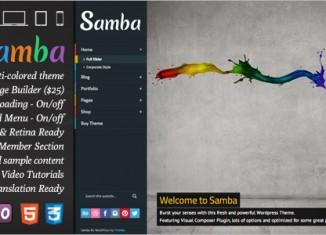 Samba WordPress Theme Colorful Business Premium