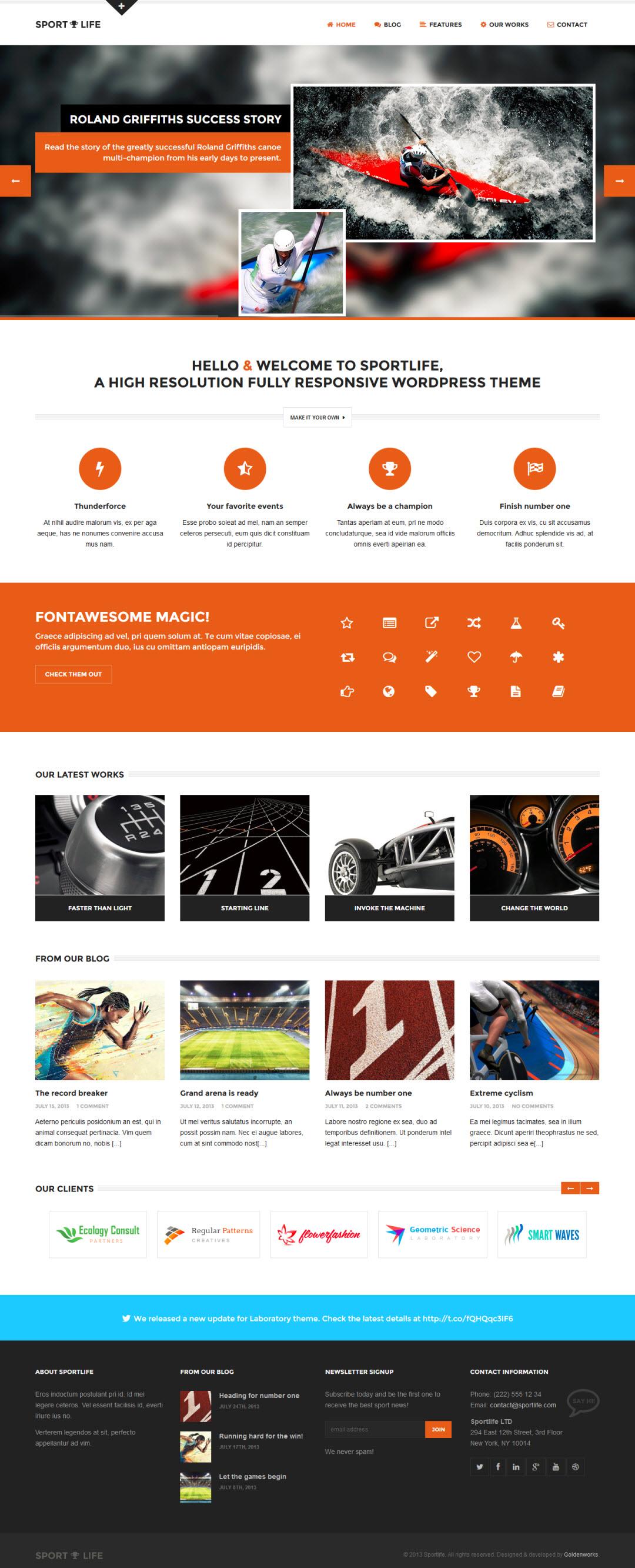 Sportlife WordPress Theme