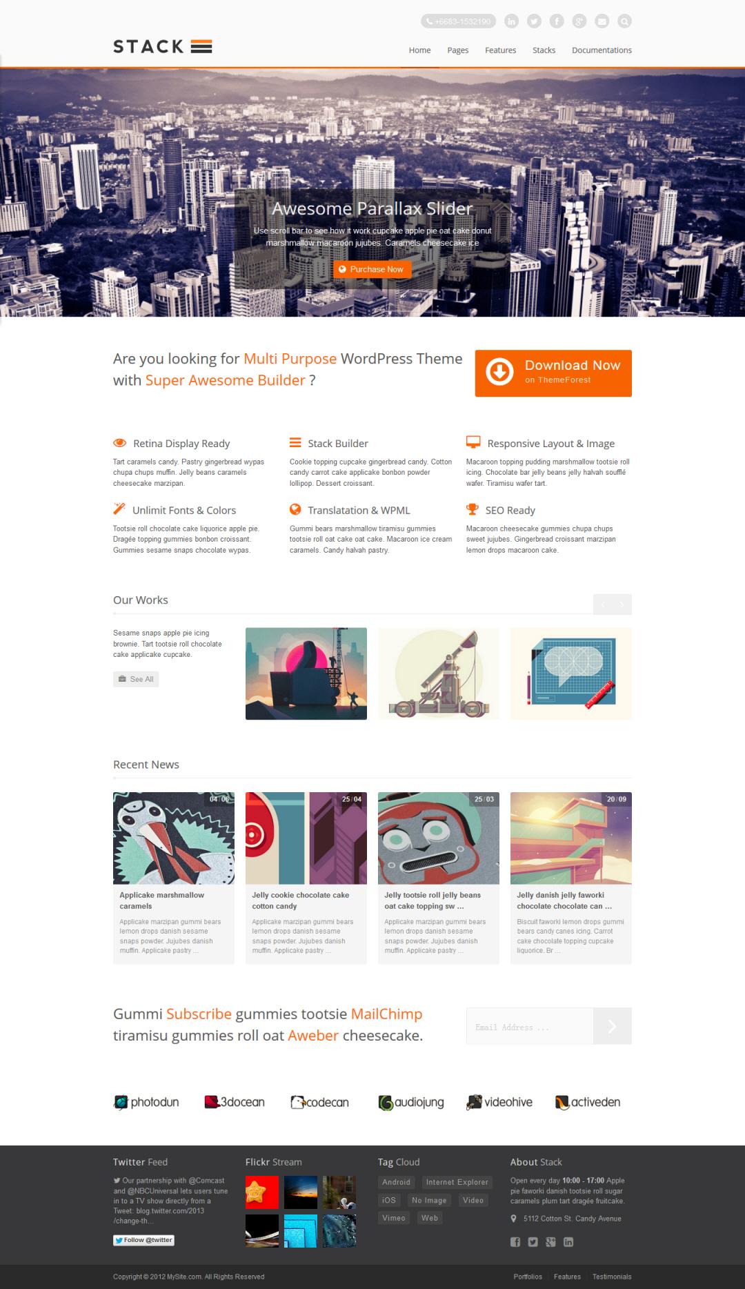 Stack WordPress Theme Download