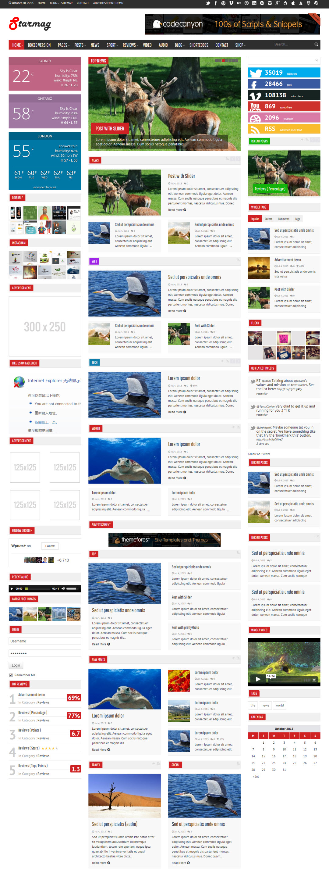 StarMag WordPress Theme