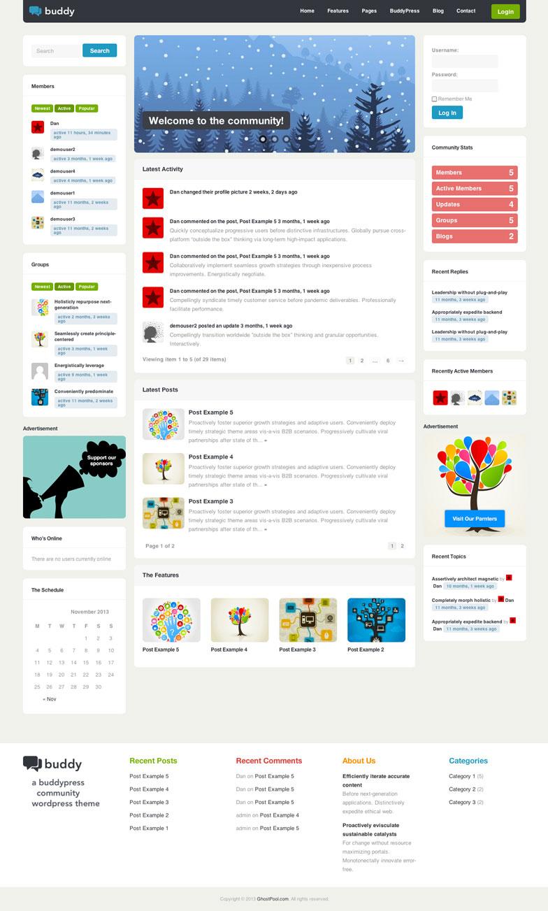 Buddy WordPress Theme