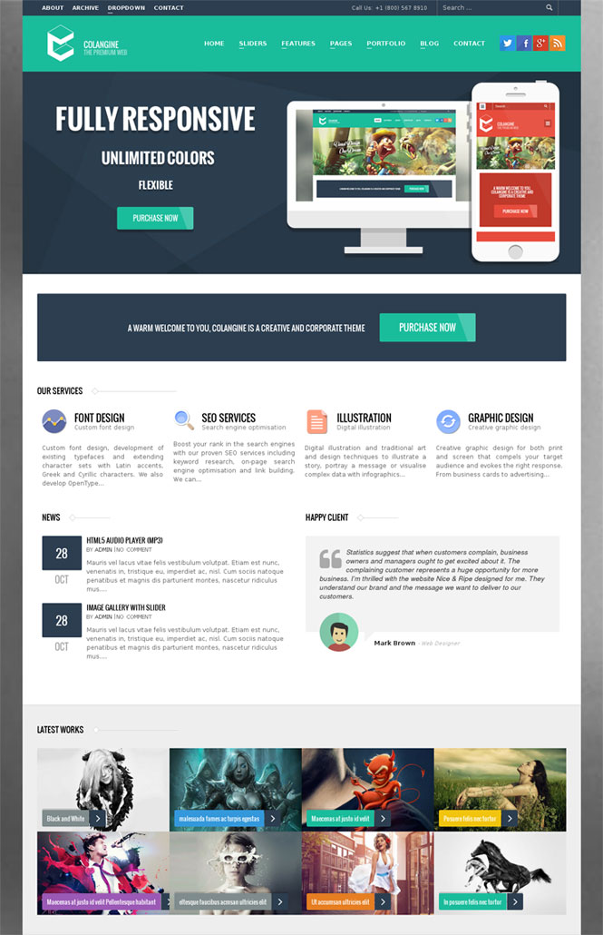 Colangine WordPress Theme