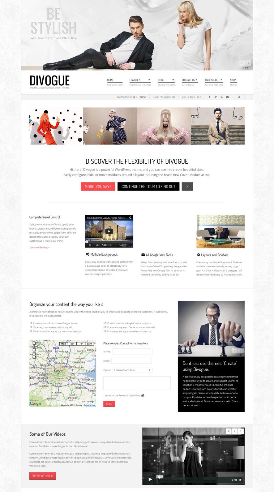Divogue WordPress Theme