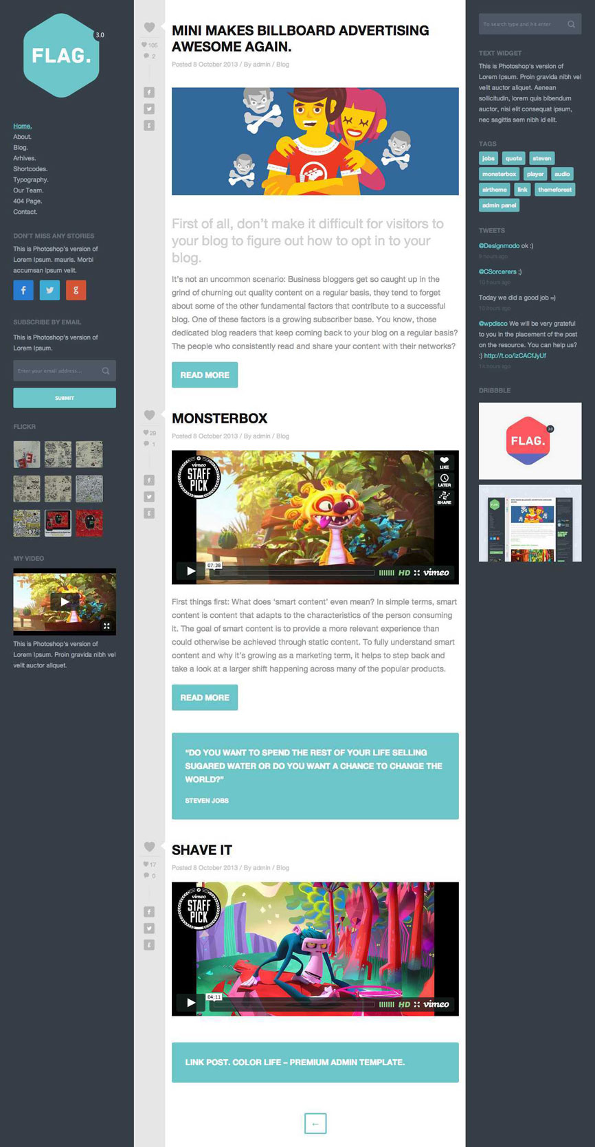 Flag WordPress Theme