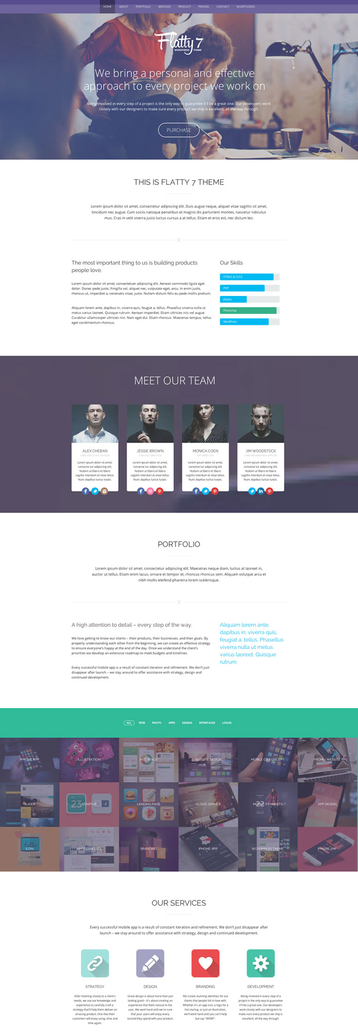 Flatty 7 WordPress Theme