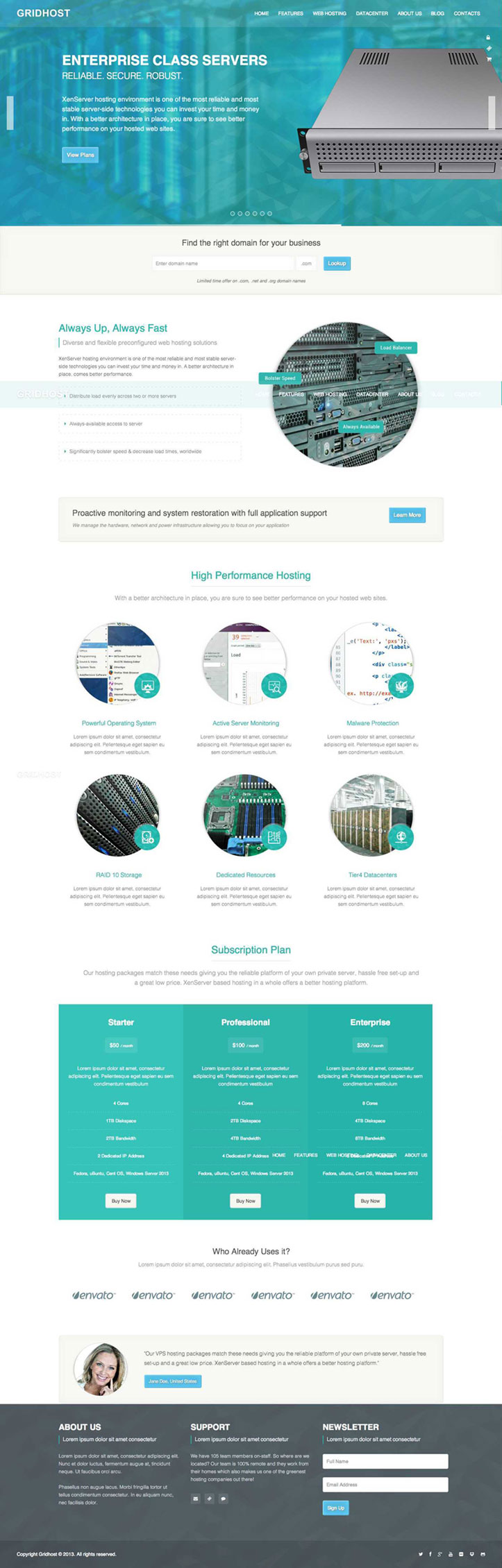 GridHost WordPress Theme
