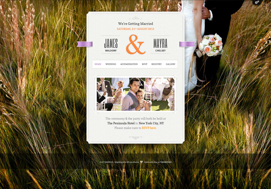 Just Married WordPress Wedding Theme