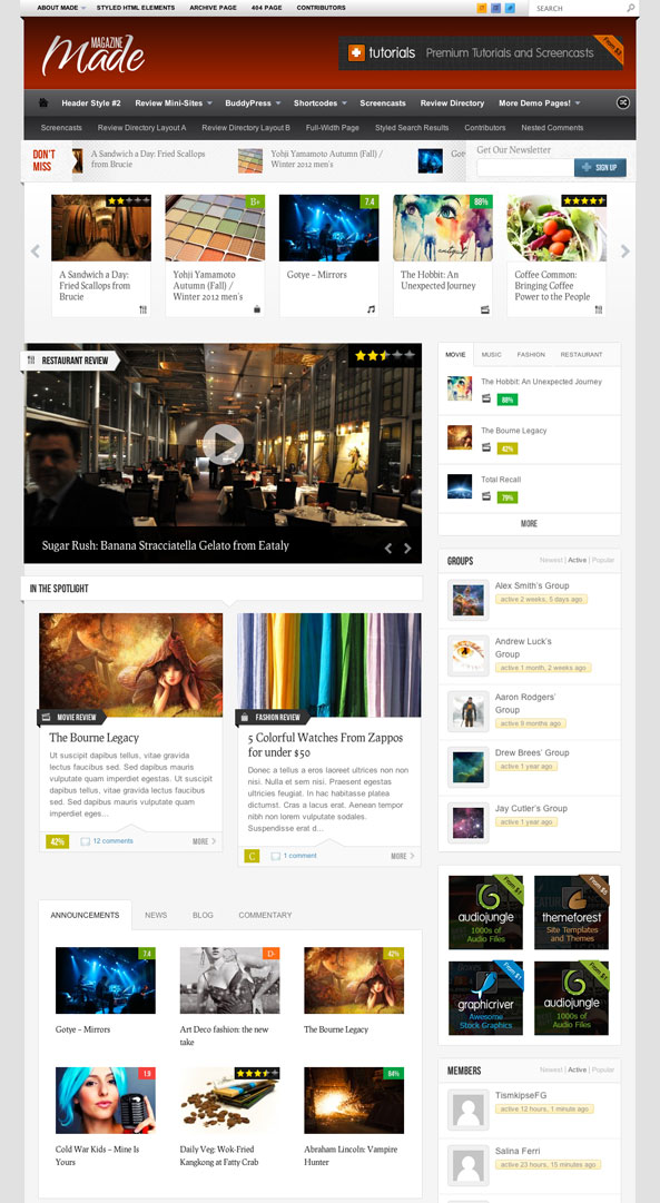 Made WordPress Theme BuddyPress