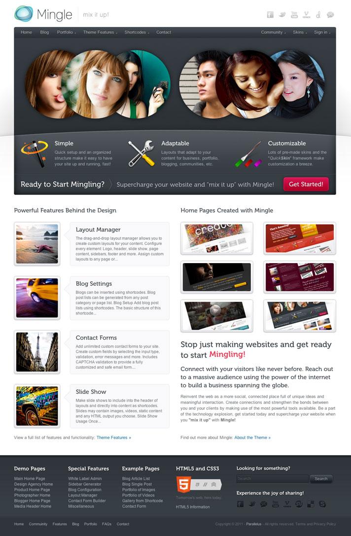 Mingle BuddyPress Themes