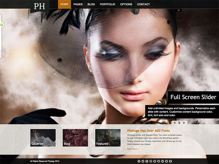 Photoge WordPress Theme for photographers