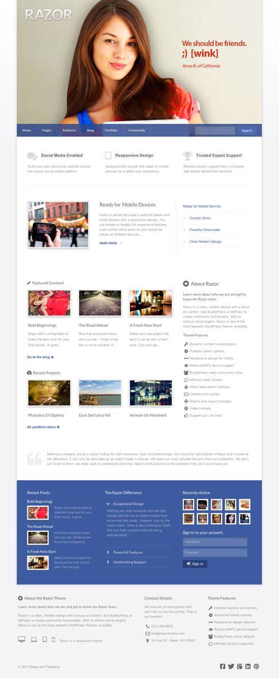 Razor WordPress Theme