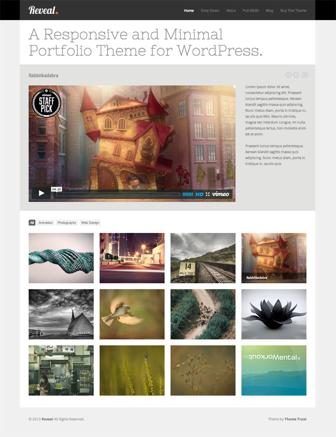 Reveal WordPress Portfolio Theme