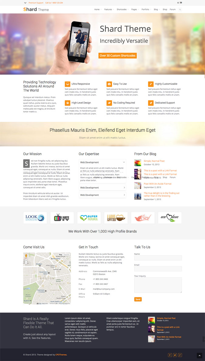 shard wordpress theme multipurpose corporate theme