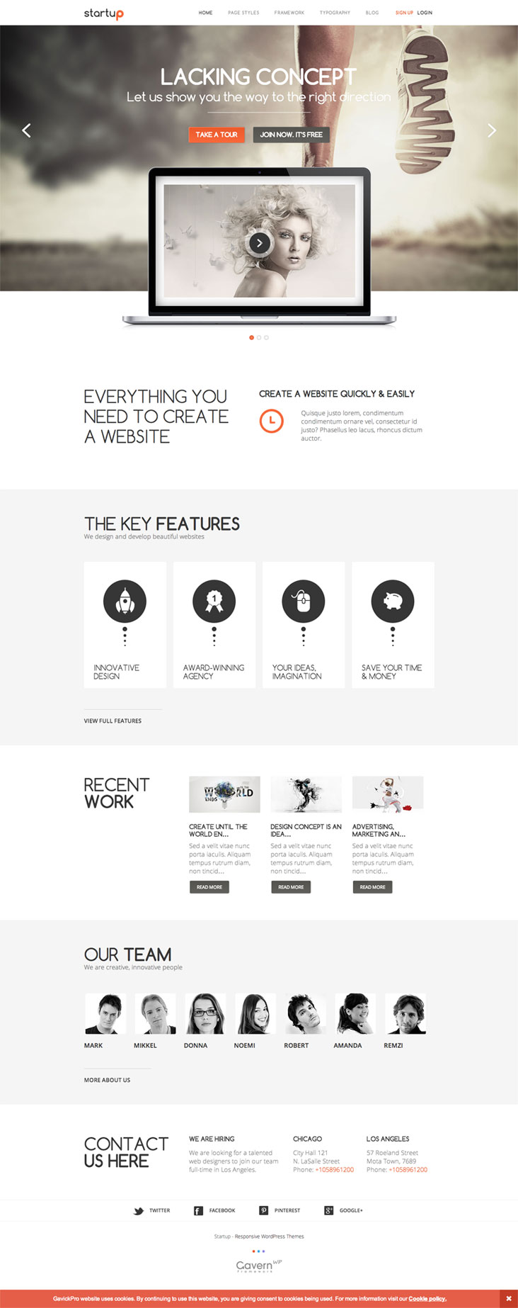 Startup WordPress Theme Beautiful Minimal Agency Theme