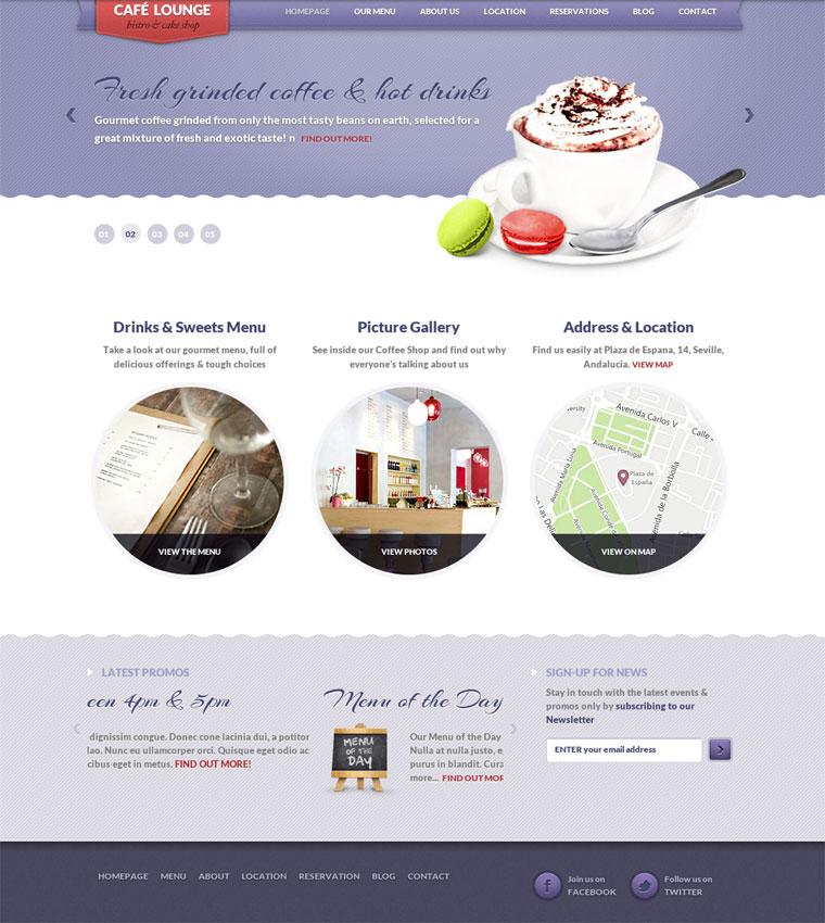 coffee lounge wordpress theme for coffee shop or cafe