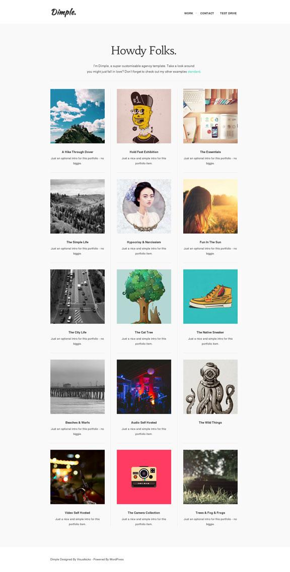 Dimple Portfolio Page