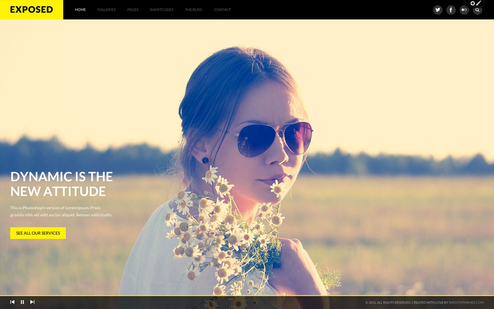 Exposed WordPress Theme Photography