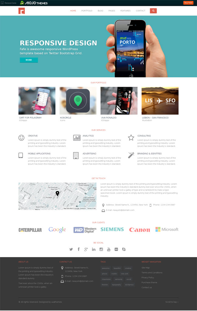 Fafe WordPress theme