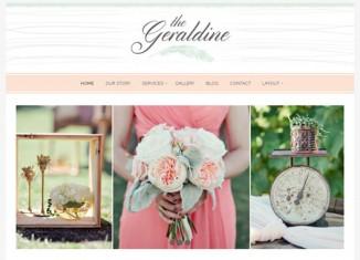 Wedding Planners WordPress Theme Feminine