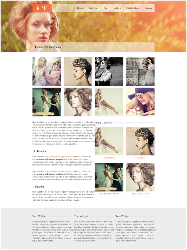 Glare - The Best WordPress Portfolio Theme