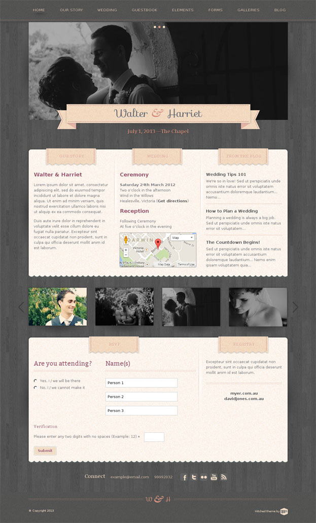 Hitched WordPress Theme