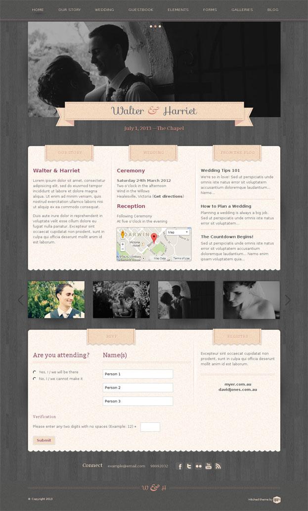 Hitched WordPress Theme