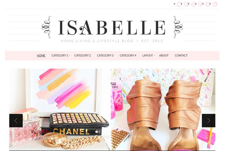 Feminine WP Theme for Fashion and Style Blog