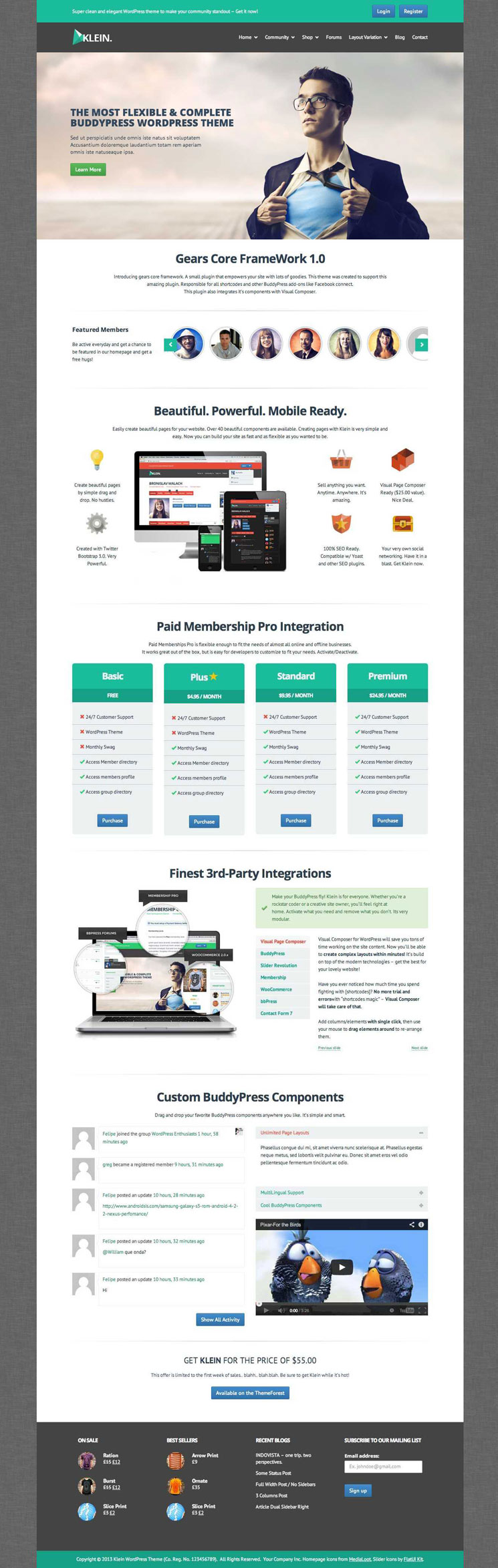 Klein WordPress Theme BuddyPress