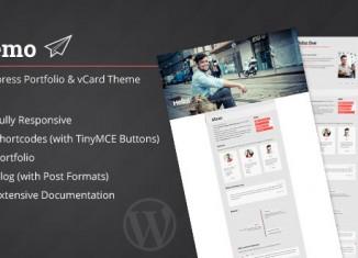 Resume vCard Wordpress Theme Portfolio