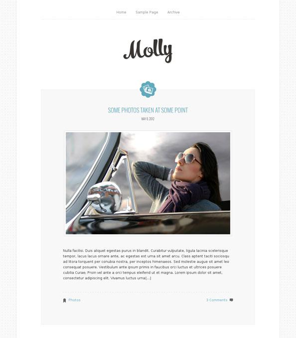 Molly wordpress theme simple minimal theme