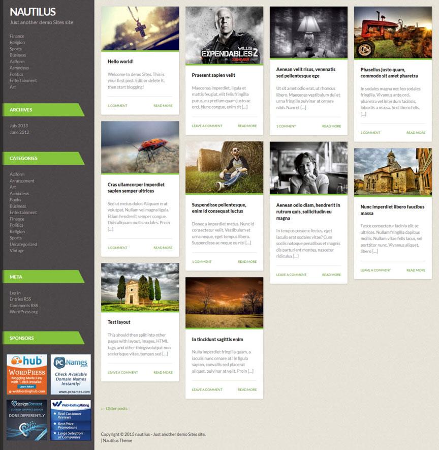 Nautilus WordPress theme