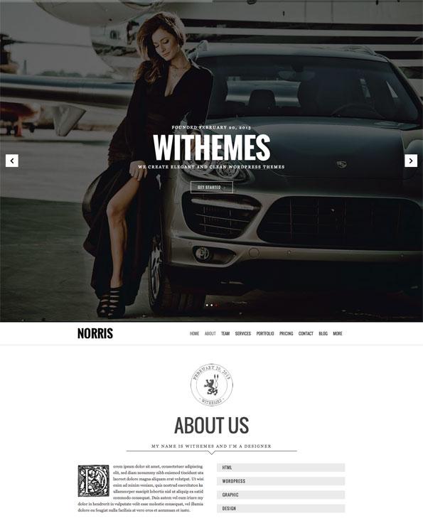norris wordpress theme