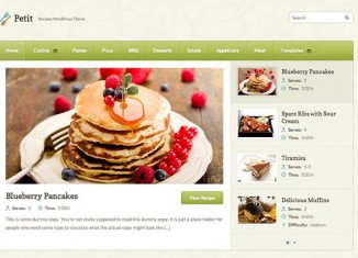 petit recipes wordpress theme and reviews