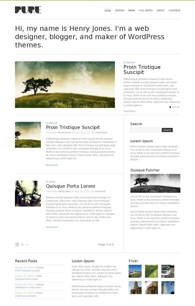 Pure WordPress Theme by ThemeTrust