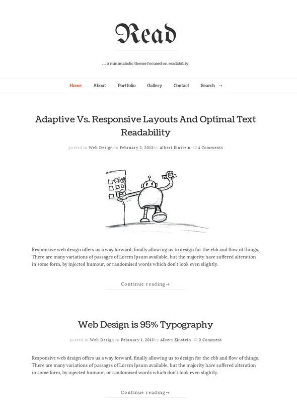 Read WP WordPress Theme