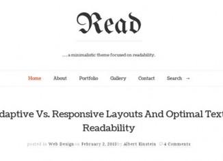 minimal writer's blog theme wordpress