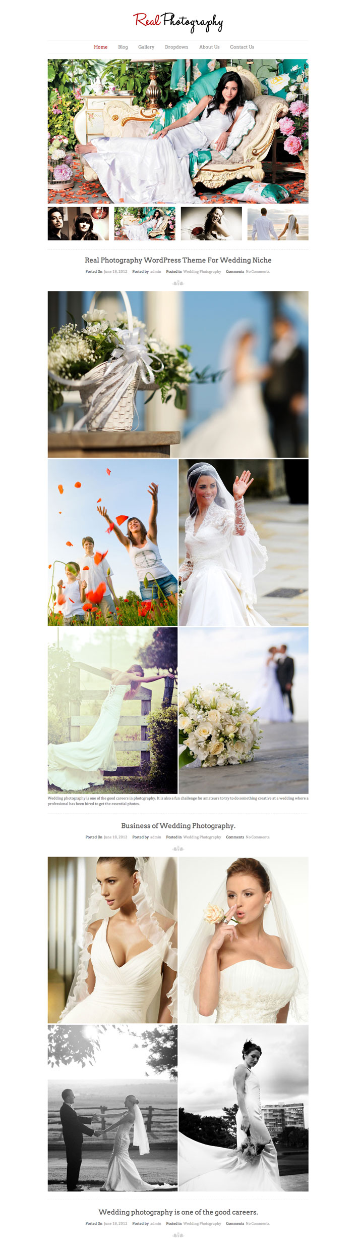 Real Photography WordPress Theme Portfolio Blog