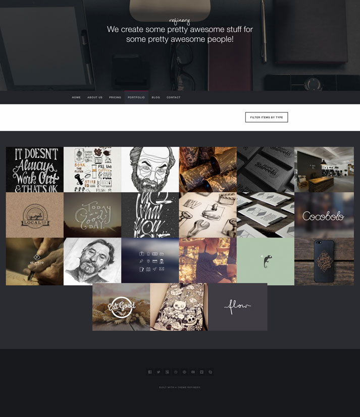 Refinery WordPress Portfolio theme