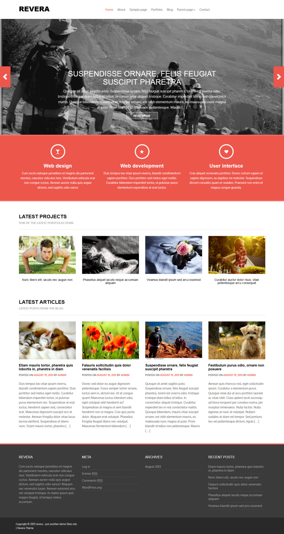 Revera WordPress Theme Free
