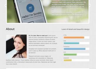 Scrolio WordPress Theme