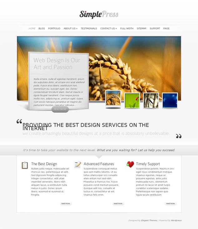 Simple Press WordPress Theme