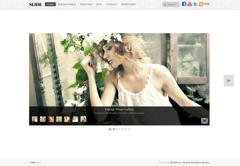 Slide WordPress Theme Hompage View