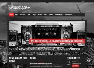Soundboard - WordPress Band Music Theme