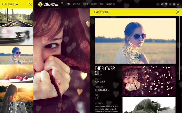 Testarossa WordPress theme portfolio