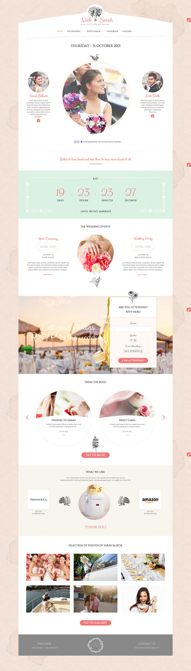 The Wedding Day WordPress Theme