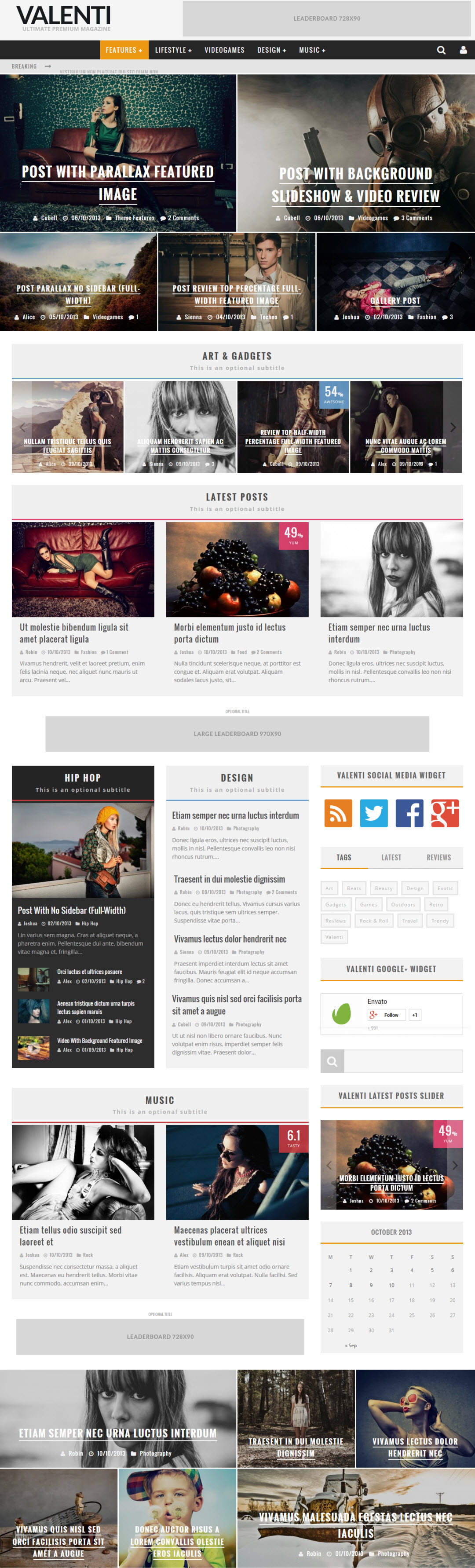 Valenti WordPress Theme Download